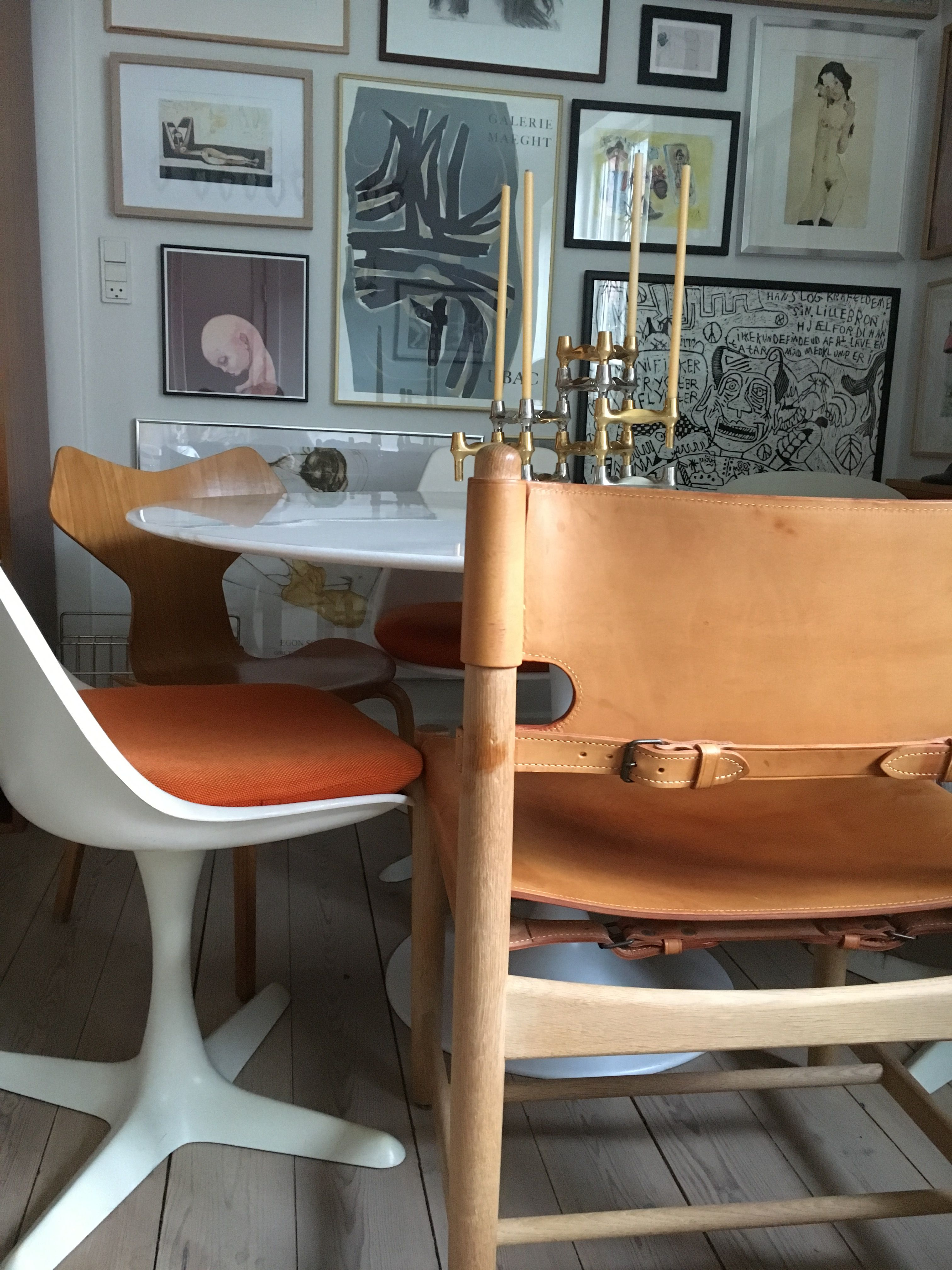 Danish design, Børge Mogensen leather jagtstol, Arne Jacobsen grand ...