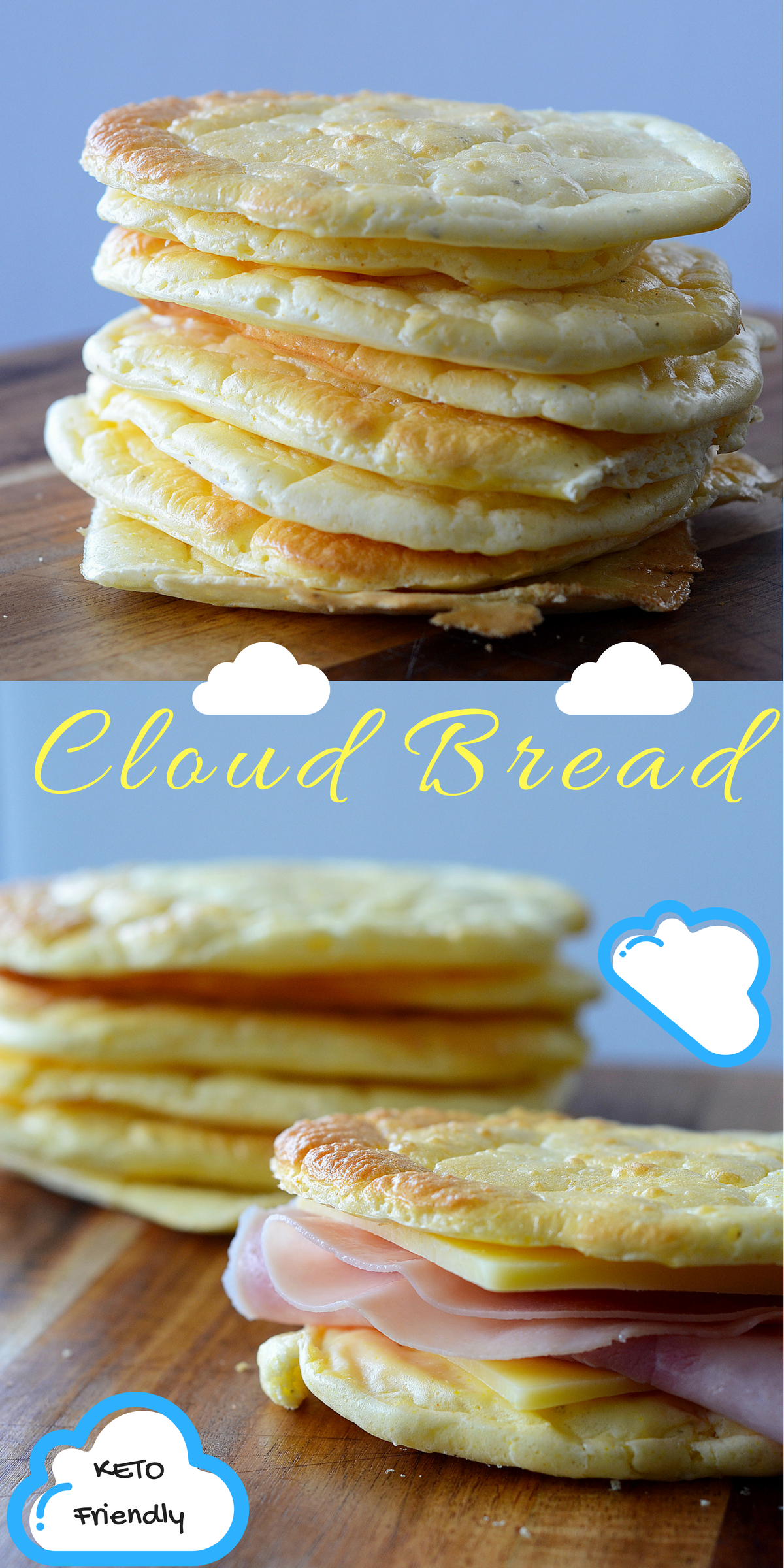 Keto Cloud Bread - Low Carb Burger Buns