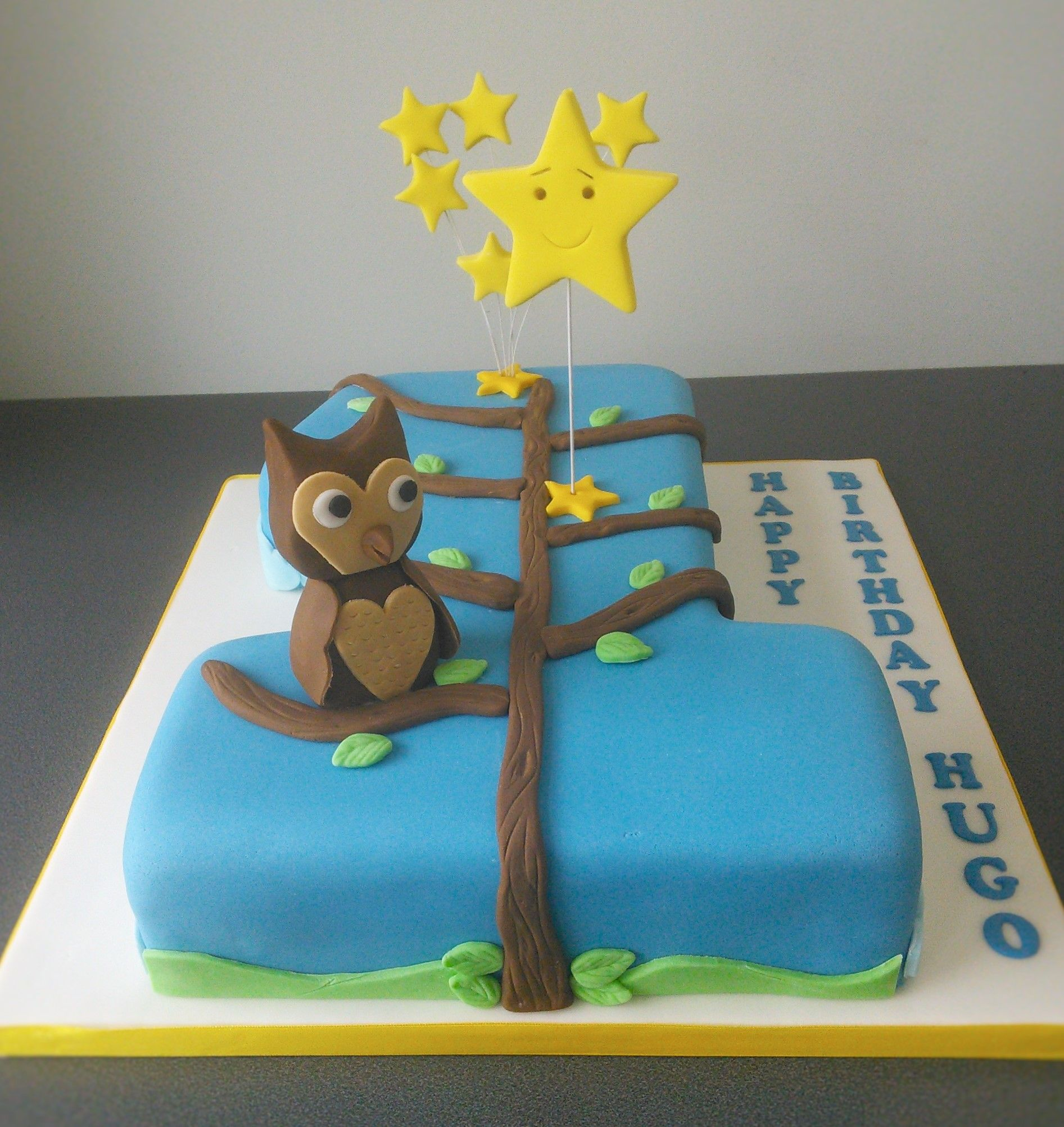 Twinkle twinkle little star, number 1 1st birthday cake