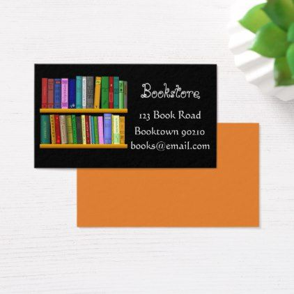 Bookshop Bookstore Or Online Books Business Card Zazzle Com Books Bookstore Books Online