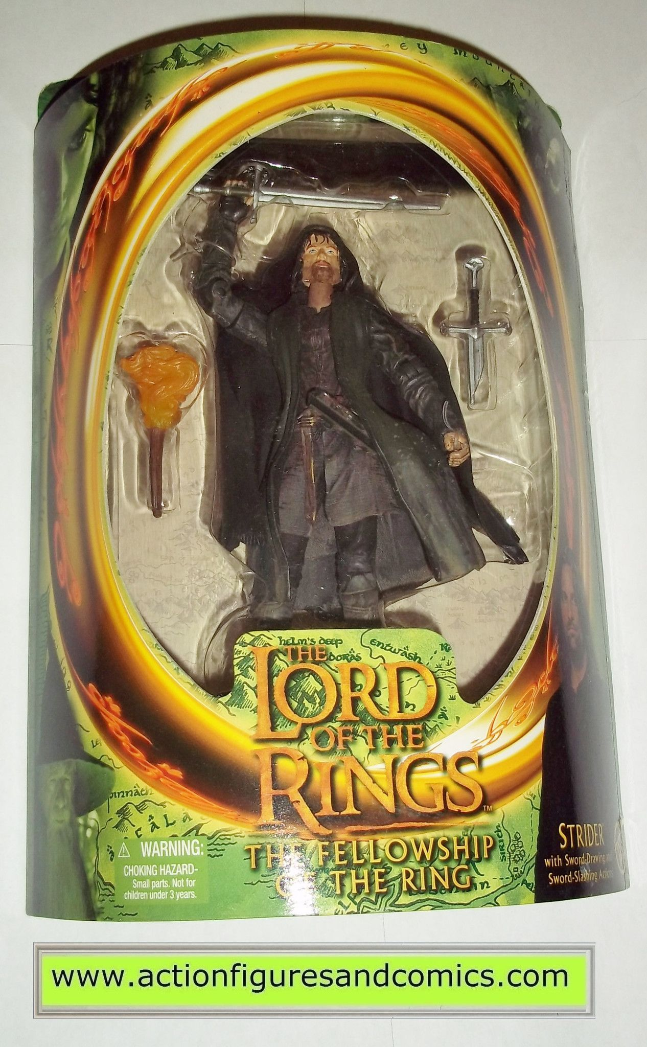 Lord of the Rings Strider Action Figure 7 In MIB LOTR Toy Biz Fellowship of Ring