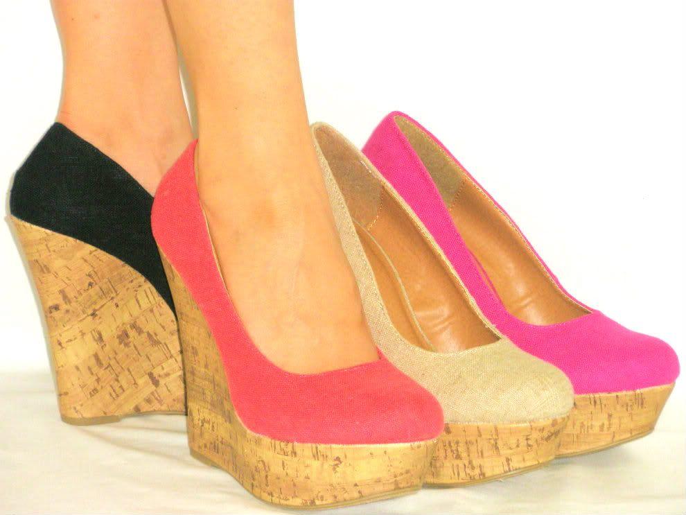 Wedge Heels Closed Toe