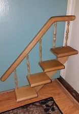 CHARMING Vintage Wooden Spindled 4 TIER STAIR STEP Knick Knack Wall Shelf!