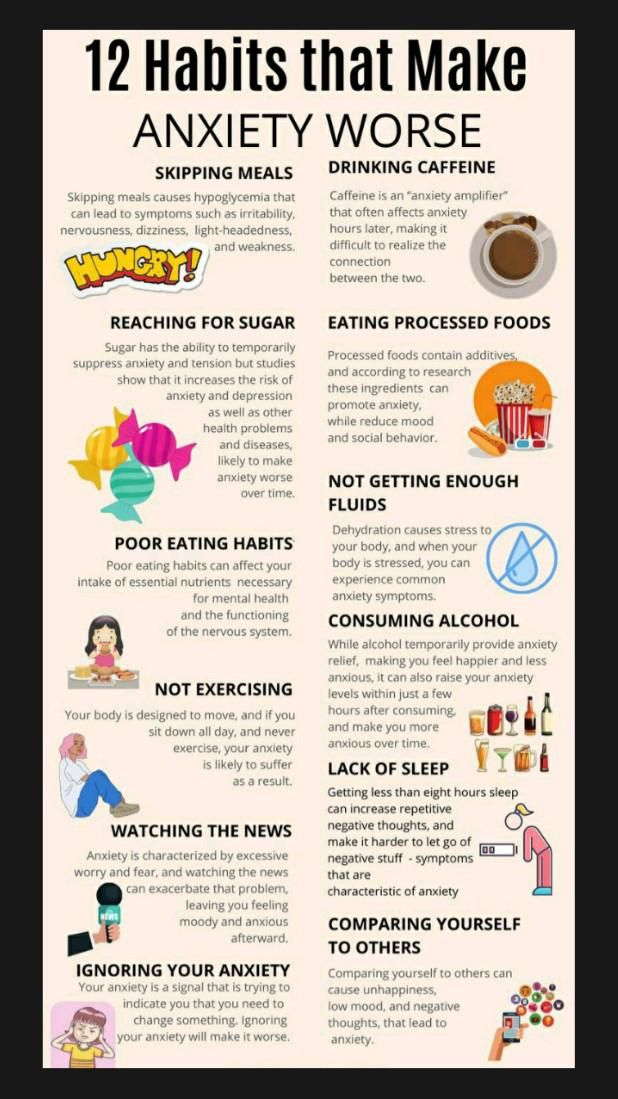Worst Habits and Good Habits for Anxiety