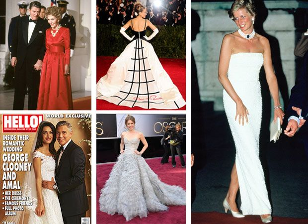 Celebrities With Oscar De La A Designs