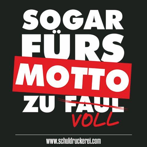 Voll Faul Sogarfursmottozufaul Ak18 Abschlussshirts