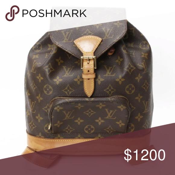 c05fbf3711bb Montsouris MM Authentic Louis Vuitton Authentic Louis Vuitton backpack in  good condition. No cracks in