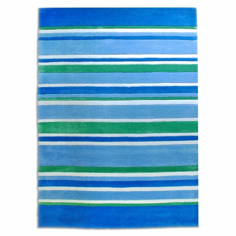 Lined Up Kids Rug in blue & green from BugRugs.  A gorgeous children's rug in amazing coastal colours.  This classic design is an easy addition to any little boy's space.  Perfect for nurseries, bedrooms and playrooms. Available in 1.1m x 1.6m size.