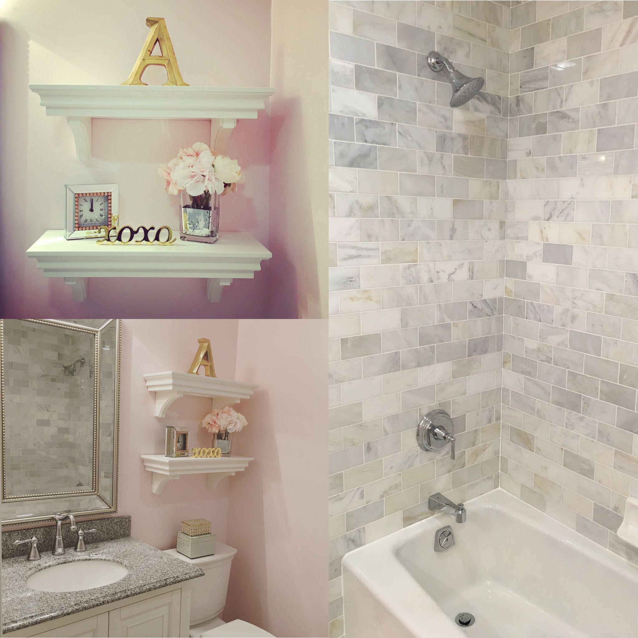 Bathroom shelving decor Shelves from Pottery Barn Kids Decor from TJ