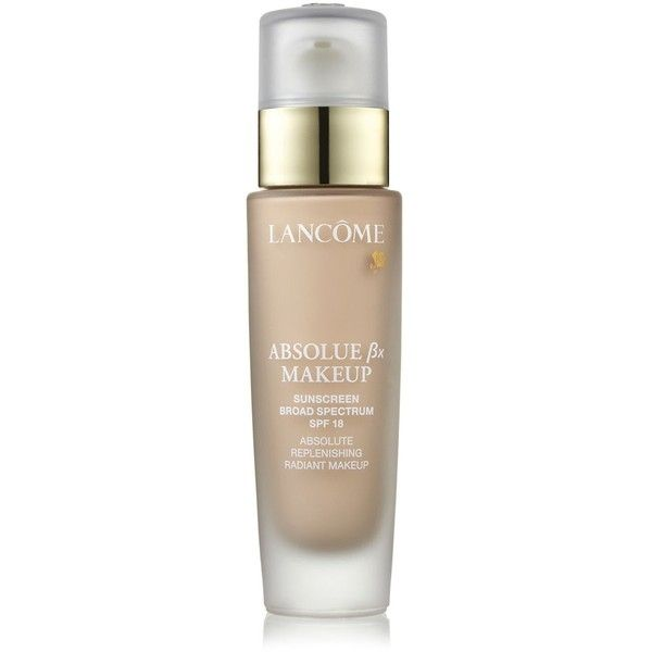 Lancome Absolue Bx Makeup (£47) ❤ liked on Polyvore featuring beauty products, makeup, face makeup, foundation, beauty, faces, lancome face makeup, lancôme, lancome foundation and moisturizing foundation