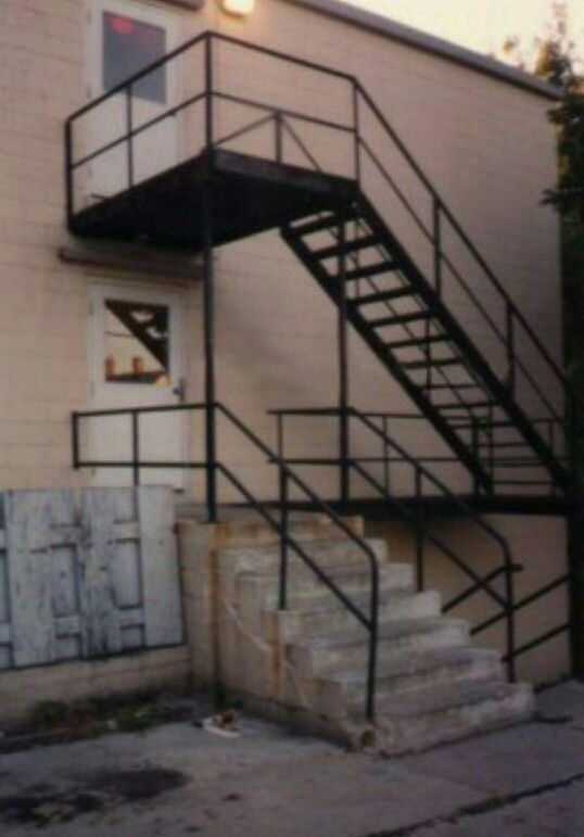 These Were Stairs At The Rear Of Oxford Apartments Jeffrey Dahmer Would Use To Take His Victims Up Apartment A Because He Was Less