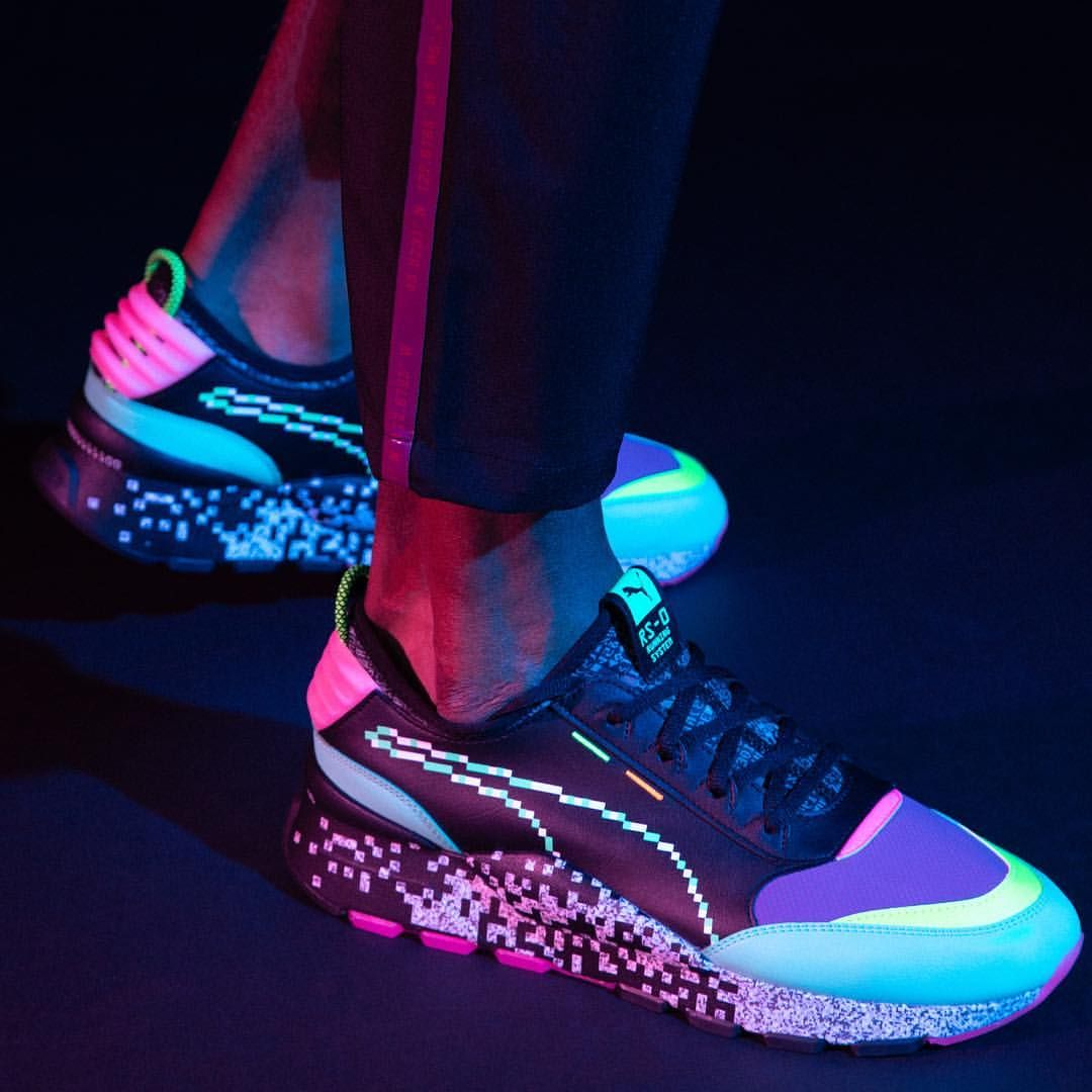 Puma Reimagines Retro Arcade Culture With The Release Of The Latest Rs 0 Model The Game Error Boasts A Strong 90s Arcade A Retro Arcade Gym Leaders Arcade