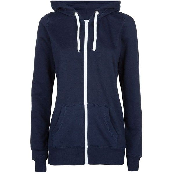 Tall Navy Basic Zip Up Hoodie ( 23) ❤ liked on Polyvore featuring tops 1047f7e93d5
