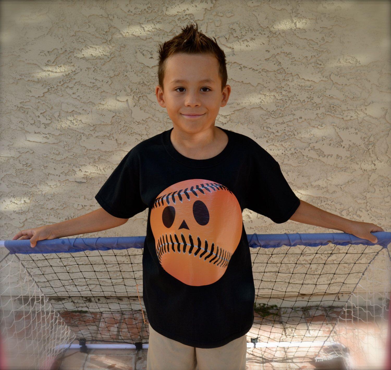 Boys Sports Fanatic Baseball Halloween Pumpkin Shirt! by PaisleesandPigtails on Etsy https://www.etsy.com/listing/207288506/boys-sports-fanatic-baseball-halloween