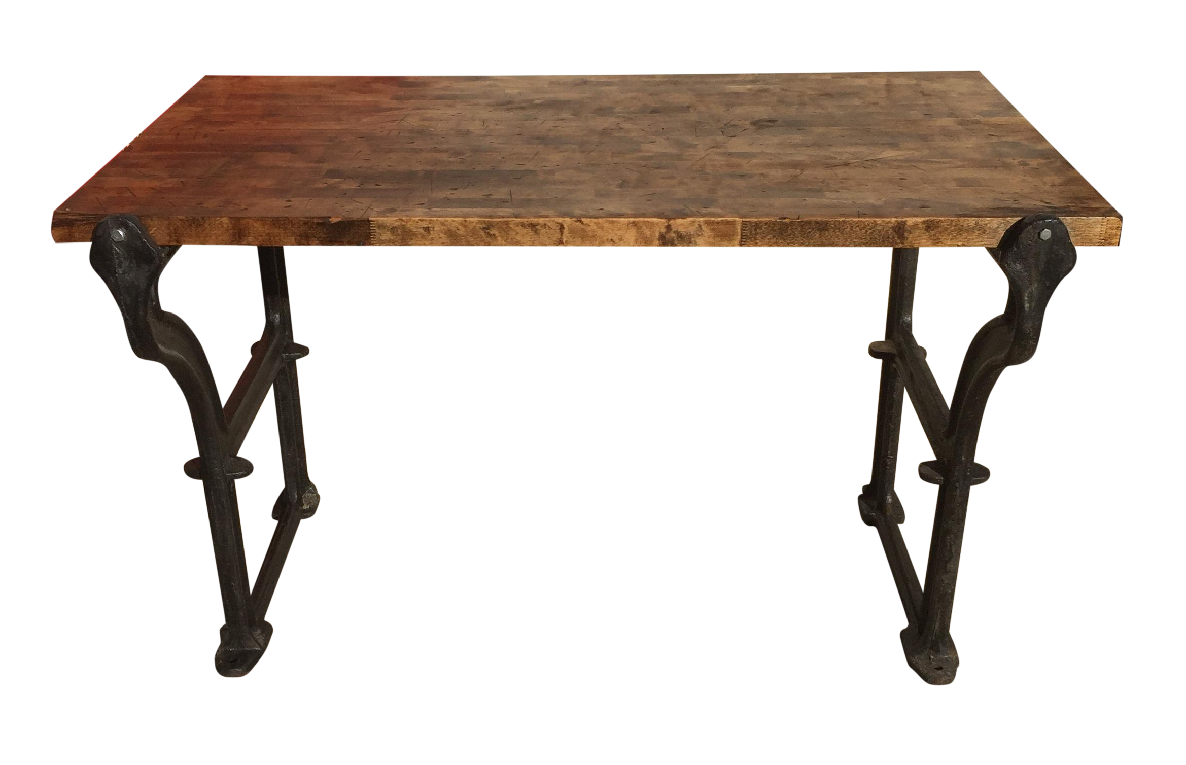 This is a butcher block kitchen island our shop made from original ...