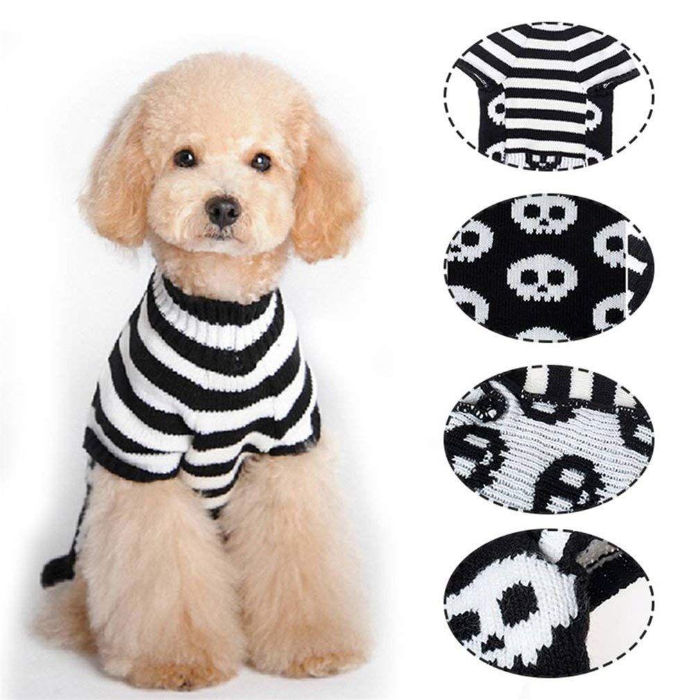 Sweaters Halloween Pet Popular Animal Clothes Unisex Designer Black White Baror Skull Head Pattern Class Pet Clothes Halloween Animals