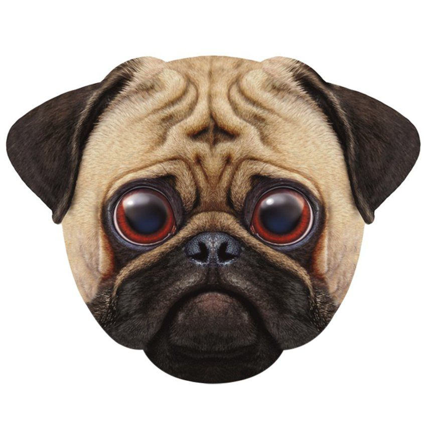 Giant Pug Dog Mask Fancy Dress Accessory Each Dog Mask Pugs