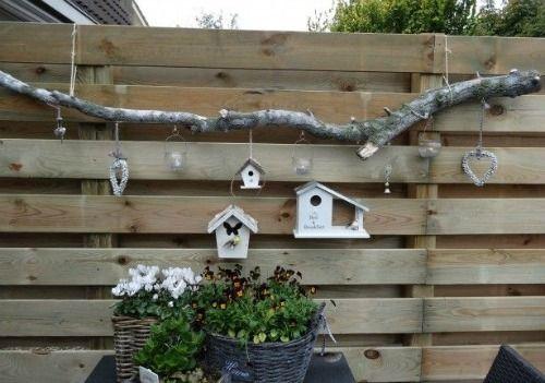 Takken decoratie inspiratie budgi7884 garden tuin schutting