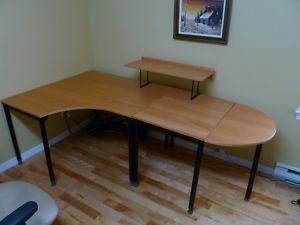 Bureau de travail ikea parties ville de montréal meubles à