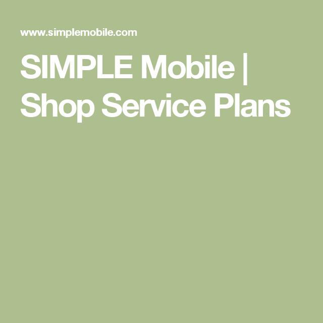 SIMPLE Mobile | Shop Service Plans | Prepaid Mobil Phone | Simple