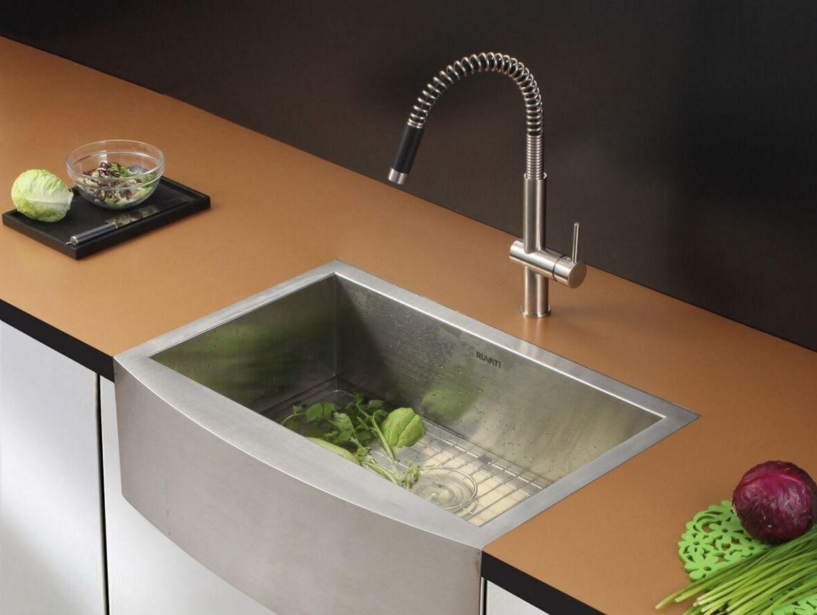 36 ruvati stainless steel farmhouse sink set rvc2459