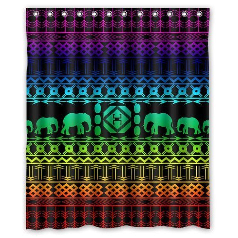 Cute animal elephant shower curtain