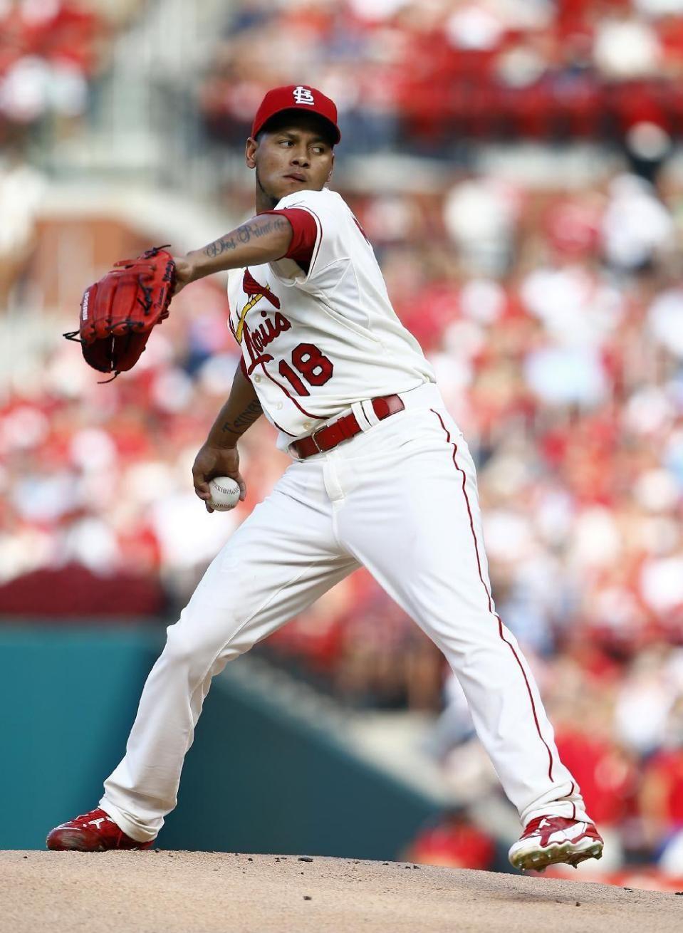 Martinez Outduels Miller Cardinals Beat Braves 1 0 Cardinals Cardinals Team Philadelphia Phillies