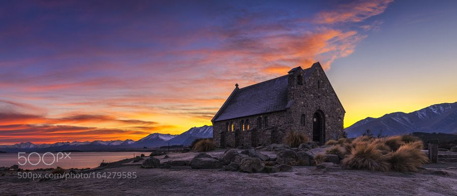 Chapel of Love Church Of The Good Shepherd  Lake Tekapo New Zealand  It's a beautiful vista looking out but it is what you are looking at outside that is God's cathedral. It is his creation the beauty and majesty of it.