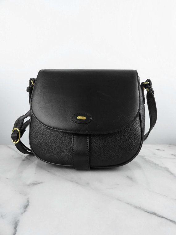 Bally Saddle Bag Shoulder Purse Black Genuine Leather Designer Made In Italy