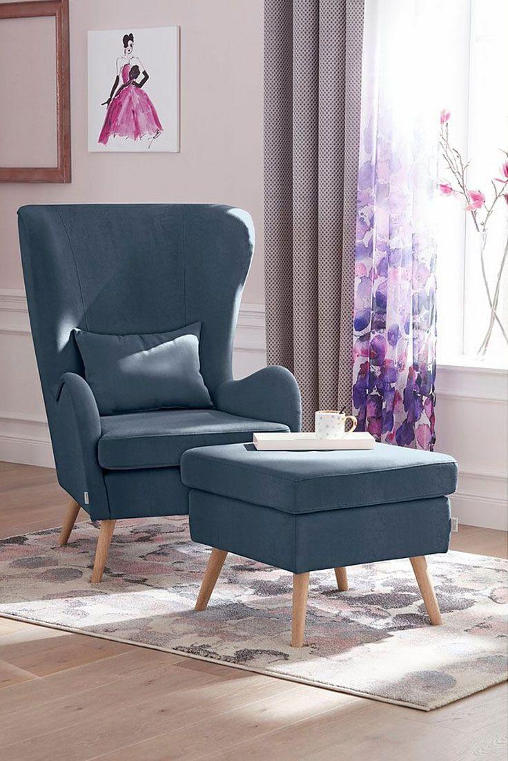 GMK Home & Living Sessel «Salla», wahlweise mit oder ohne Hocker ...