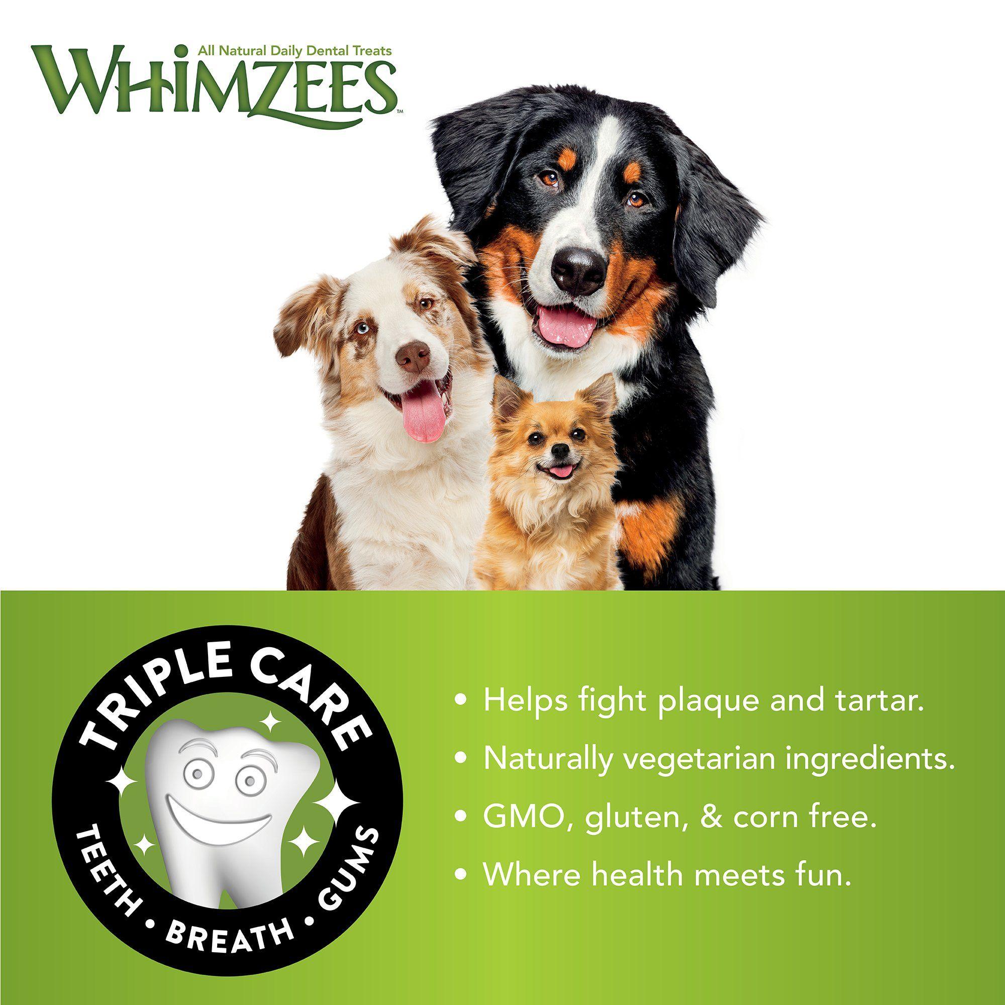 Whimzees Natural Grain Free Dental Dog Treats Small Alligator Bag