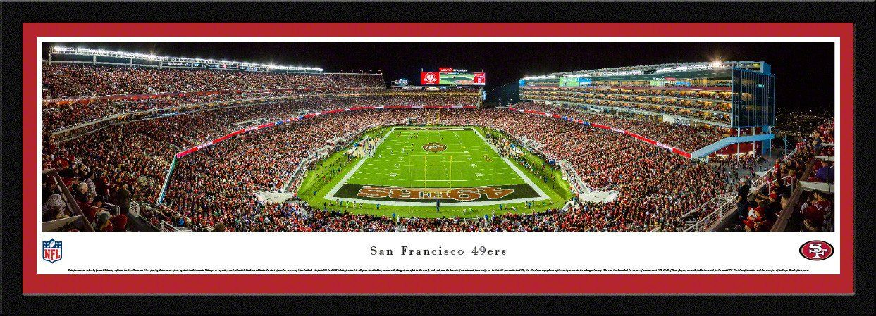 San Francisco 49ers Panoramic Picture Framed Levi S
