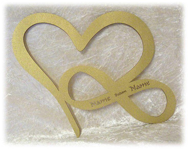 Schlummerlicht24 Led Unendlichkeitszeichen Herz Liebe Mit Name N Und  Hochzeit Datum Verlobung Jahrestag Hochzeits Geschenke Schlafzimmer Lampe  Freuu2026