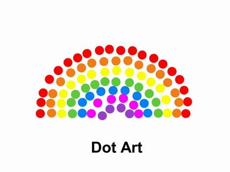 dot art powerpoint template hope presentation pinterest