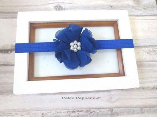 Buy Now Royal Blue Baby Headband Newborn Headband girl hair ... 5a9c75a893d