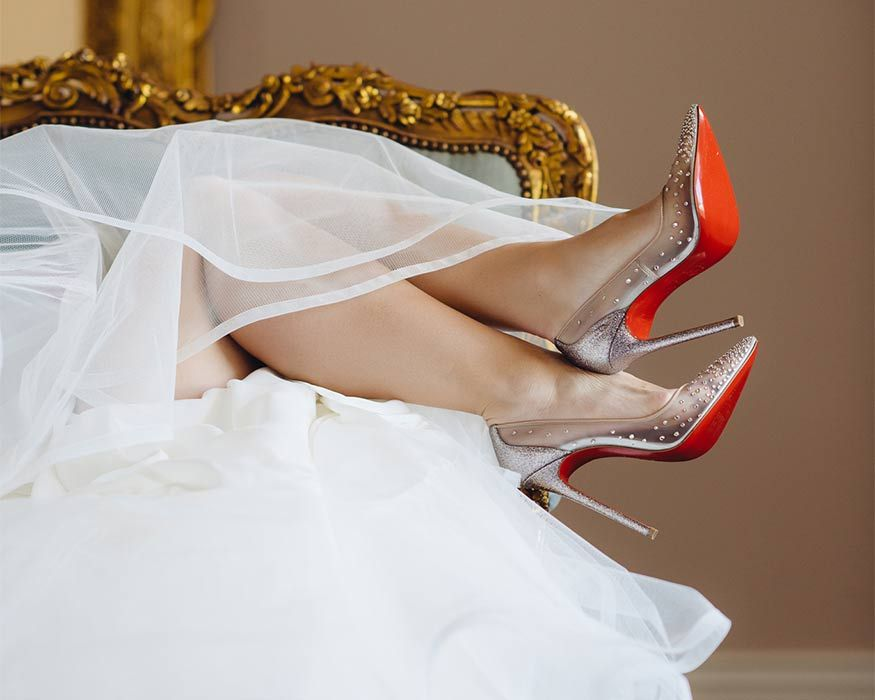 Red Bottom Shoes Bridal Christian Louboutin Bridal Shoes Louboutin Wedding Shoes Bridal Robes Getting Ready Bridal Shower Outfit