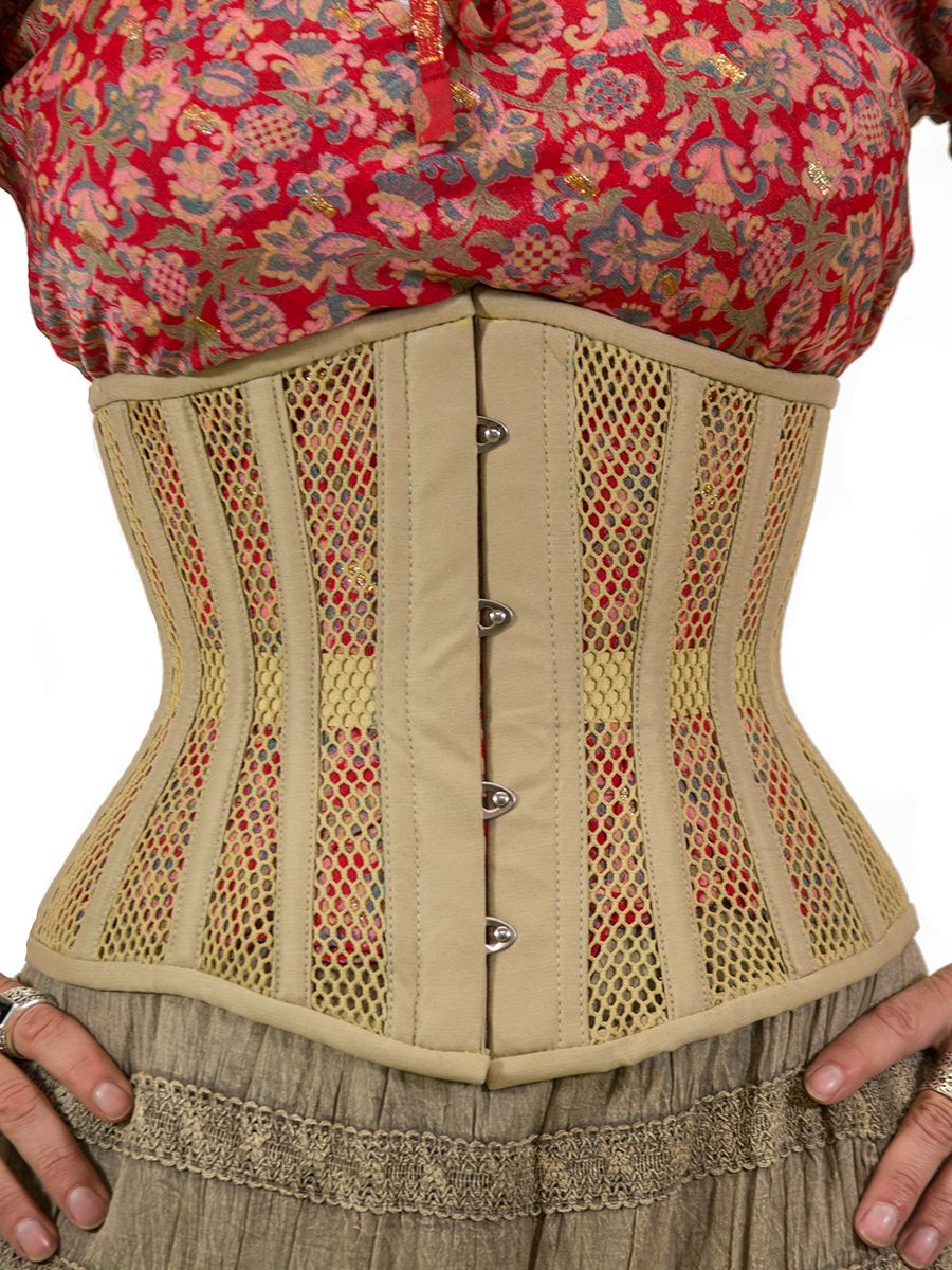 4c33a0a1b89 Breathable mesh corset in taupe. The color makes it easy to hide under  clothes. Orchard Corset explains how to choose a corset that will fit your  body AND ...