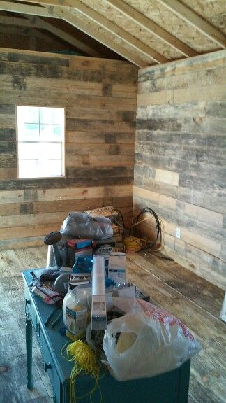 Rough Cut Lumber Flooring Walls And Ceilings Man Shed In 2019