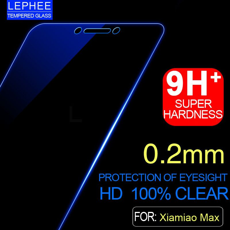 Lephee voor xiaomi mi max hd 9 h gehard glas mi max Glas Ultradunne Helder Transparant Screen Protector met Schoon doekjes