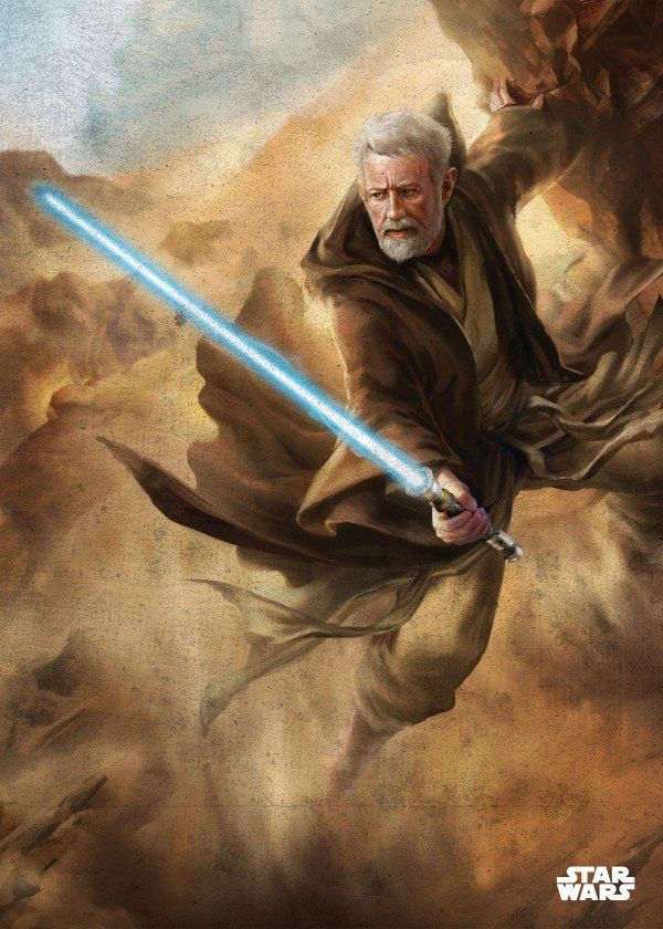 "Star Wars Obi-Wan /""Ben/"" Kenobi Original Art Print signed by artist Scott Harben"