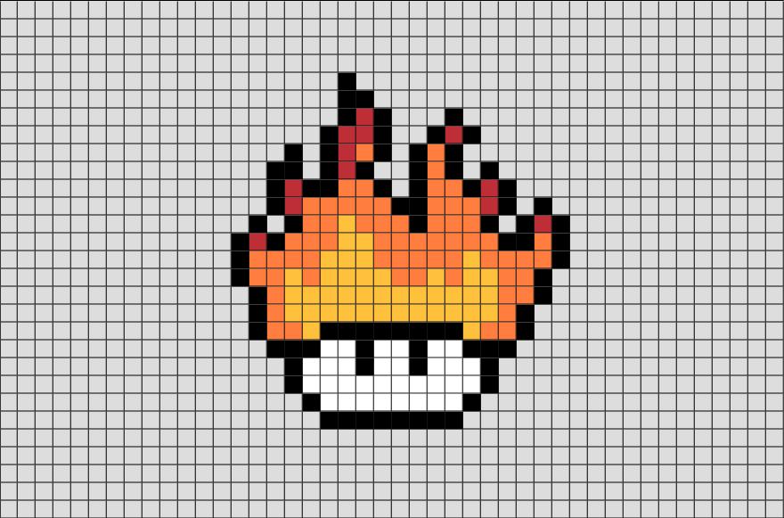 Fire Mushroom Pixel Art Cool Pixel Art Pixel Art Pixel