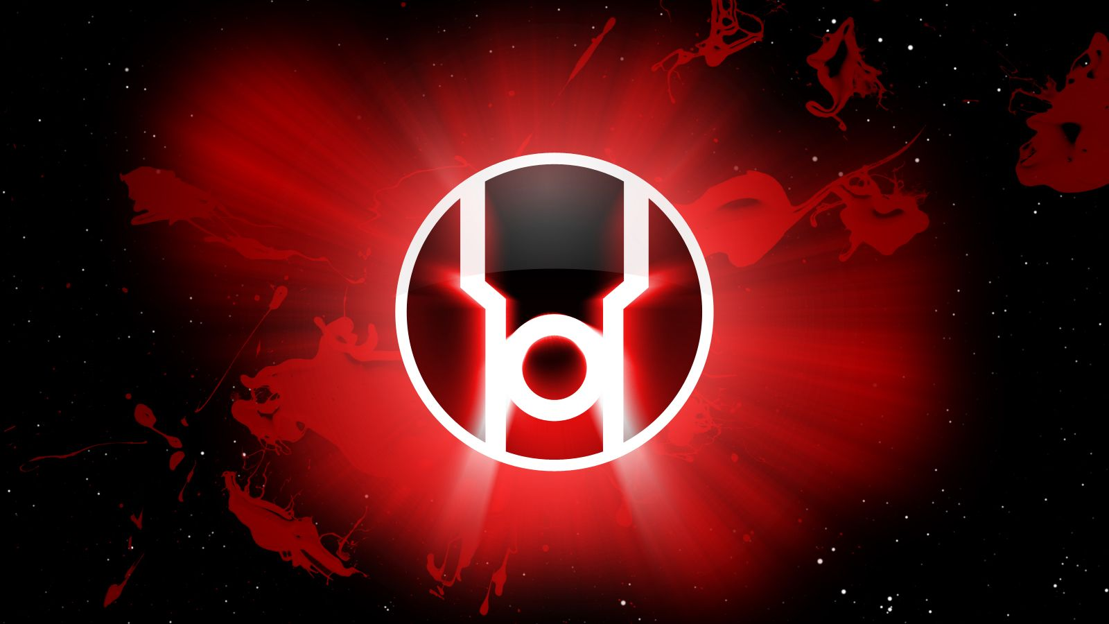 red lantern logo in space | zoom comics - daily comic book