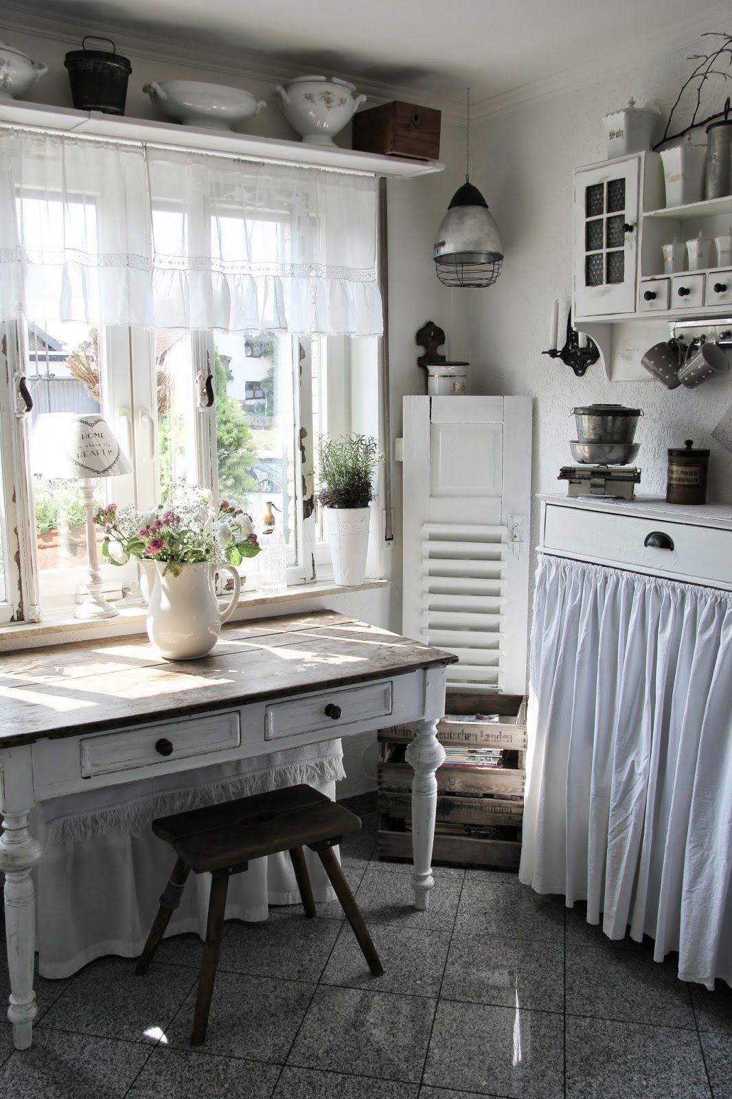 Shelf Above Window Table Under Window Perfect White
