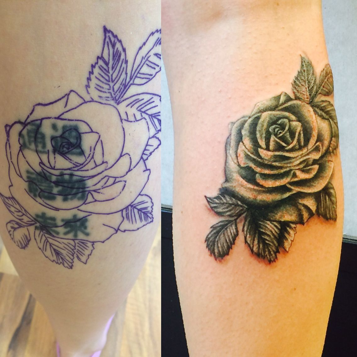 Black And White Rose Tattoo Cover Up They Are Possible Tattoos