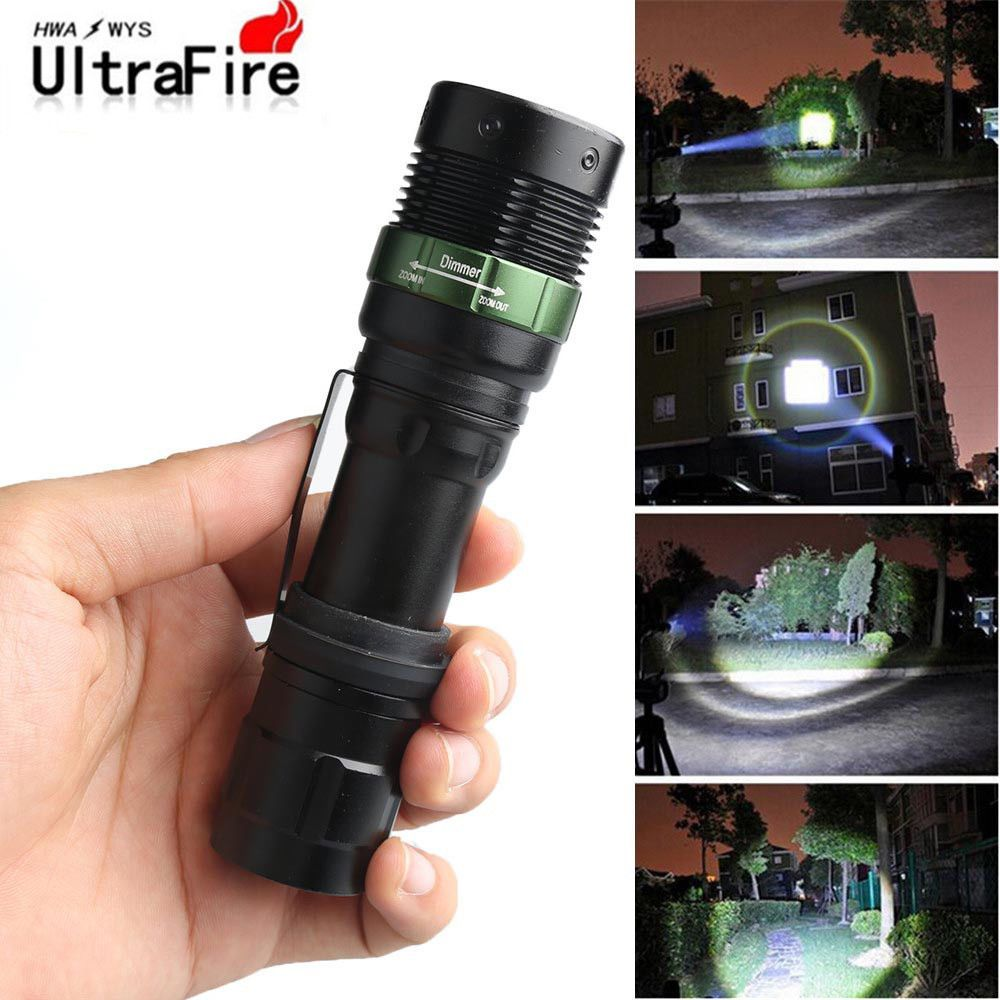 Ultrafire Flashlight 18650 Light 20000LM Zoomable T6 LED