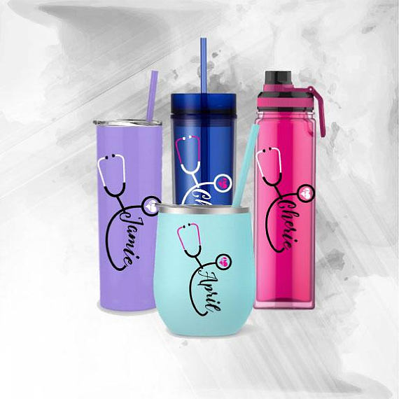 Tumbler Nurse Quotes Yeti Nurse Decals water bottle and more