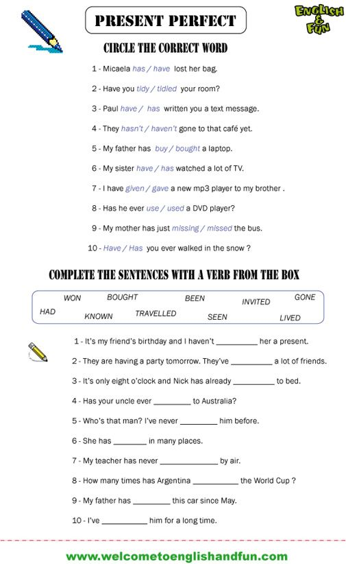 present perfect past simple worksheets pdf | 4th. grade ...