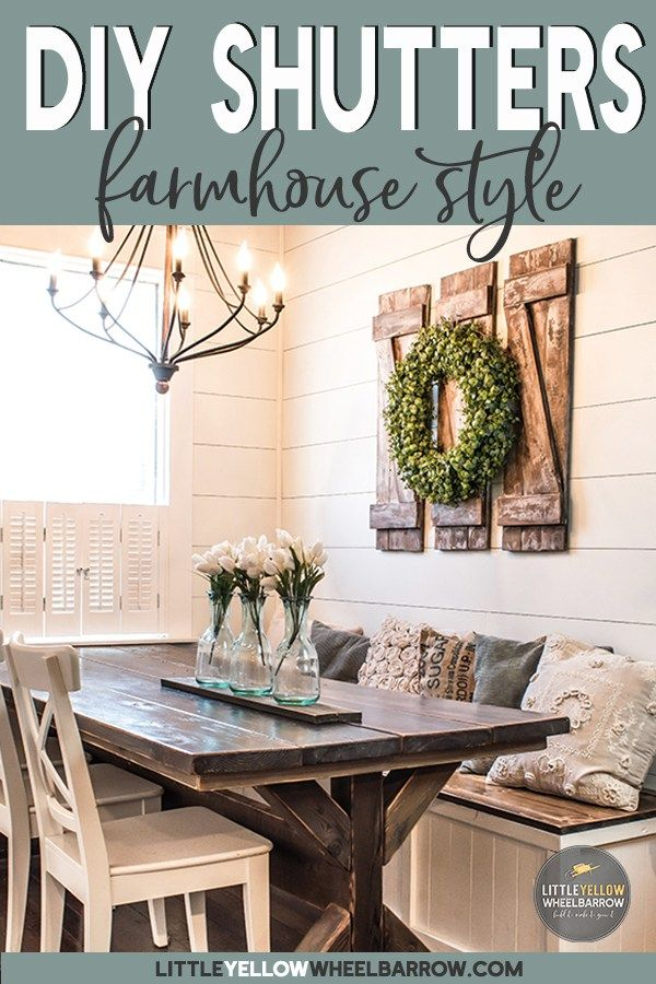 How to build simple and inexpensive decorative shutters also rustic home interiors rh pinterest