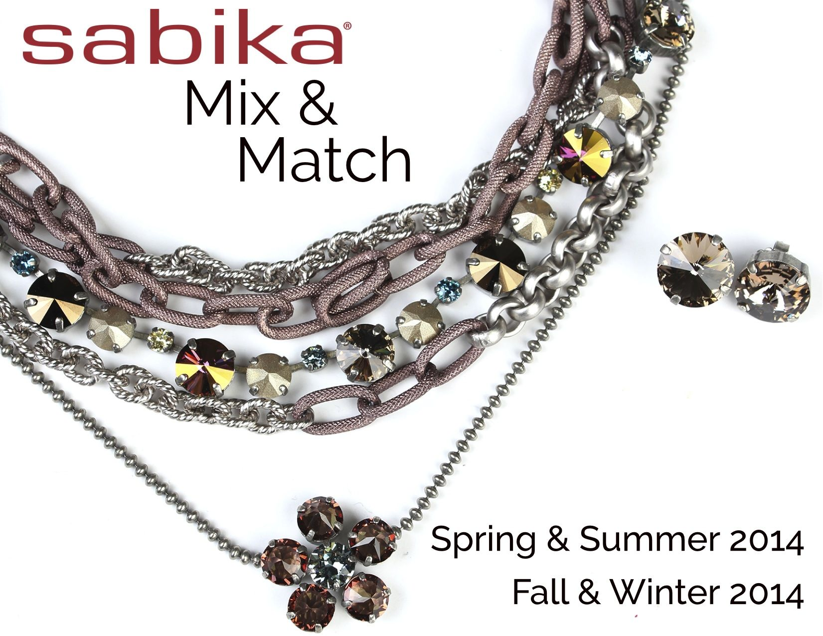 Sabika look necklace - Chains And Colors Sahara Dusk 3 Row Necklace Edition After Five Miami Tm