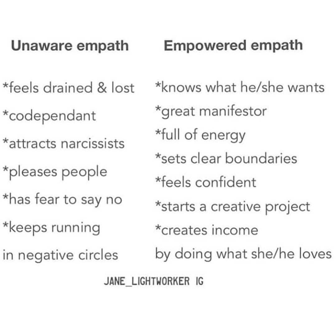 Unaware vs empowered empath ♻️ @jane_lightworker 💜 | Quotes